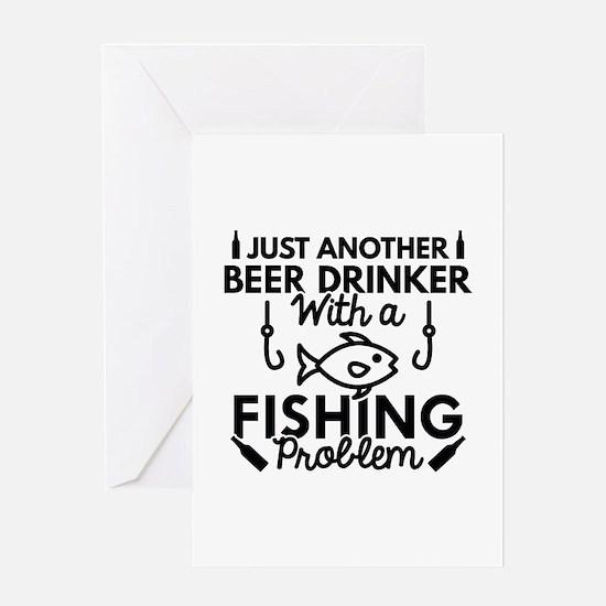 Beer Drinker Fishing Greeting Card