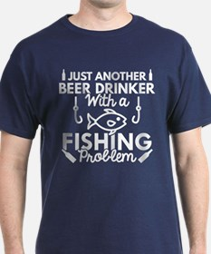 Beer Drinker Fishing T-Shirt