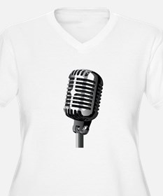 Isolated Stage Mic Plus Size T-Shirt