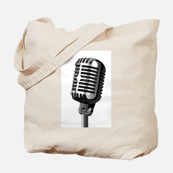 Isolated Stage Mic Tote Bag