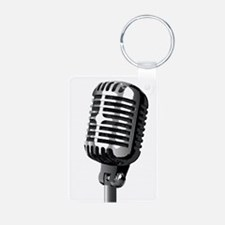 Isolated Stage Mic Keychains