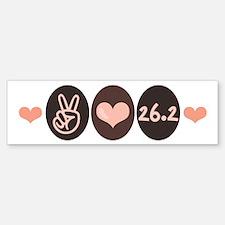 Peace Love Run 26.2 Marathon Bumper Bumper Bumper Sticker