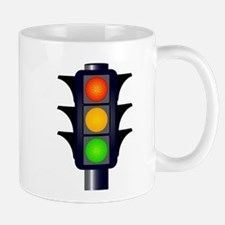 Hooded Traffic Lights Mugs