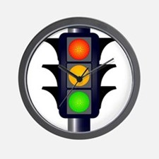 Hooded Traffic Lights Wall Clock