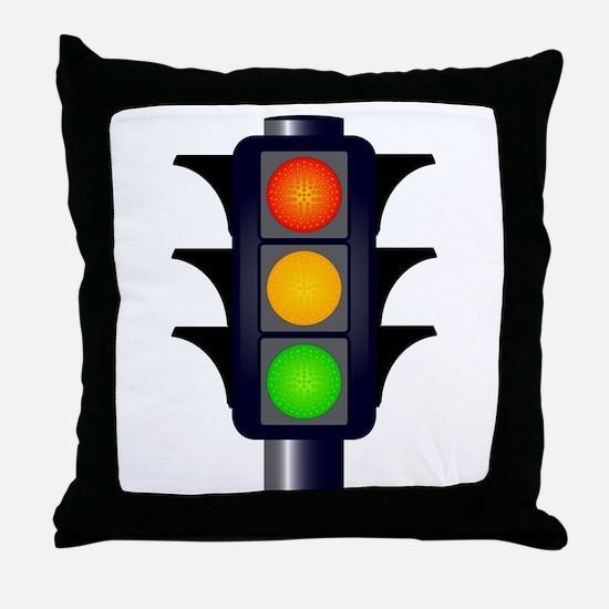 Hooded Traffic Lights Throw Pillow