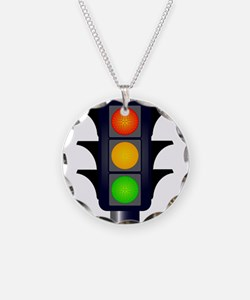 Hooded Traffic Lights Necklace