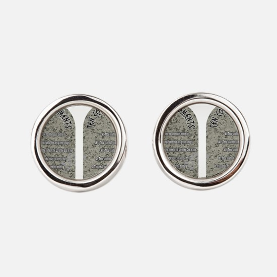 Funny Moses Round Cufflinks