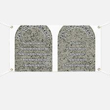 Unique 10 commandments Banner
