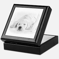 Lab Pup-Nap Keepsake Box