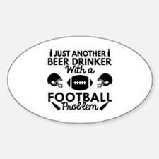 Beer Drinker Football Decal