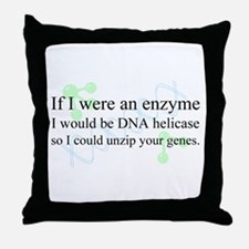 """""""DNA Helicase"""" Throw Pillow"""