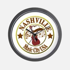 Nashville Music City USA-LT Wall Clock