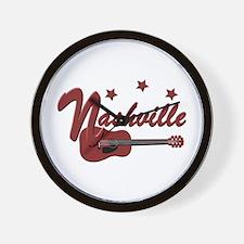 Nashville TN-BRN Wall Clock