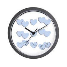 Love The OC Hearts Wall Clock