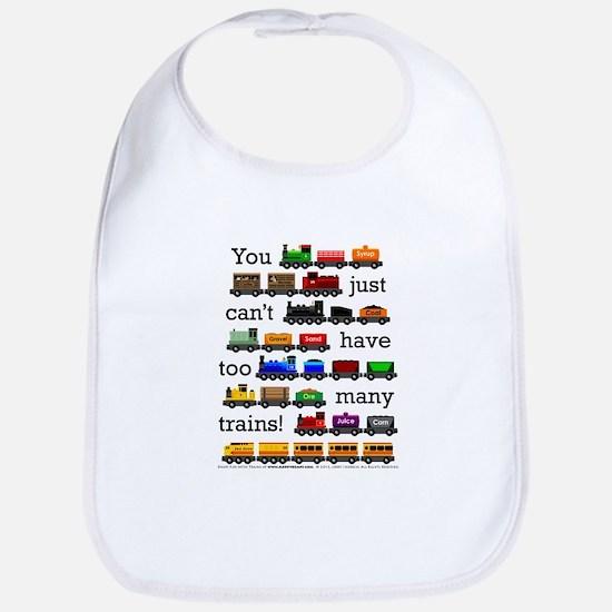 Too Many Trains Baby Bib
