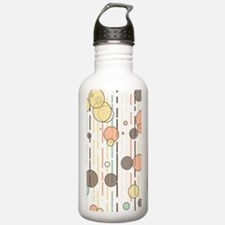 Circles and lines Water Bottle