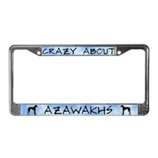Crazy About Azawakhs License Plate Frame