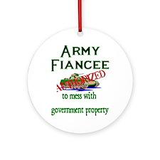 Army Fiancee Authorized Ornament (Round)