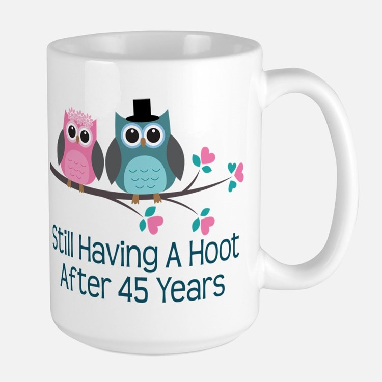 45th Anniversay Owls Mugs