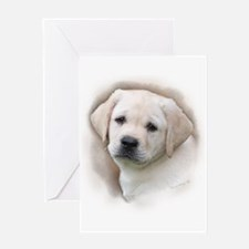 Lab Pup Color Greeting Card