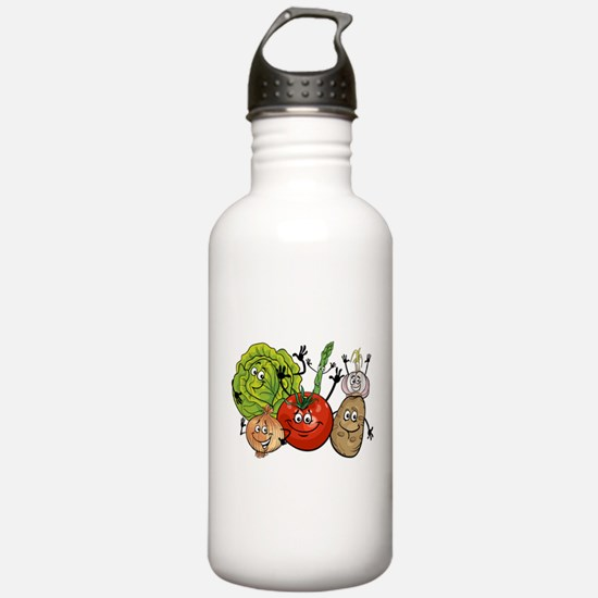 Funny cartoon vegetabl Water Bottle