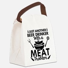 Beer Drinker Meat Canvas Lunch Bag