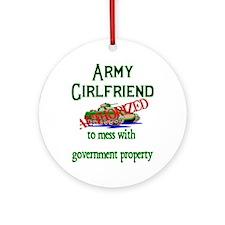 Army Girlfriend Authorized Ornament (Round)