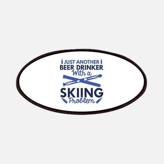 Beer Drinker Skiing Patches