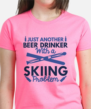 Beer Drinker Skiing Tee