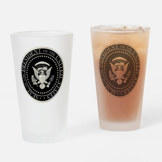 Logo in red Drinking Glass