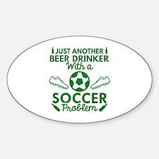 Beer Drinker Soccer Decal