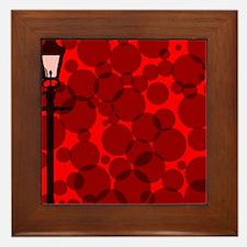 Gaslight Background Framed Tile