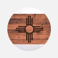 New Mexico State Flag Brand Button