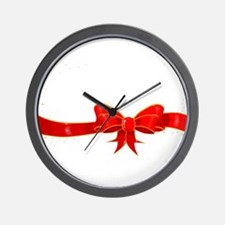 Ribbon With Sparkles Wall Clock
