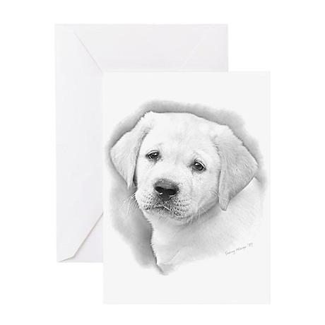 Lab Pup Pencil Greeting Card