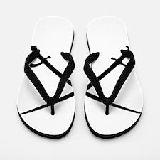 Crossed Sabres Flip Flops
