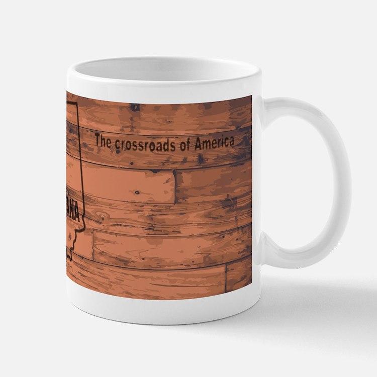 Indiana Map Brand Mugs