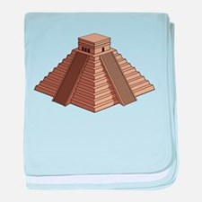 World Mayan constructions landmarks baby blanket