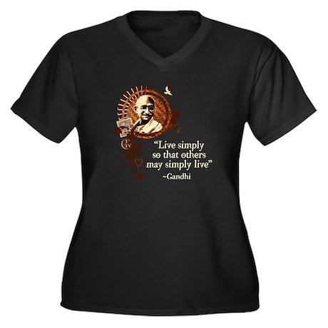 Funky Gandhi -Live simply... Women's Plus Size V-N