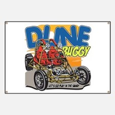 Dune Buggy Let's Go Play in the Sand Banner