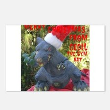 Christmas Gym Rat Postcards (Package of 8)