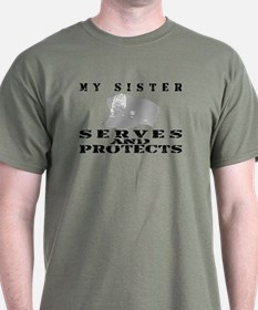 Serves & Protects Hat - Sis T-Shirt