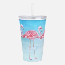 Flamingo lagune- water Acrylic Double-wall Tumbler