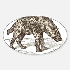Vintage hyena art Decal