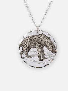 Vintage hyena art Necklace
