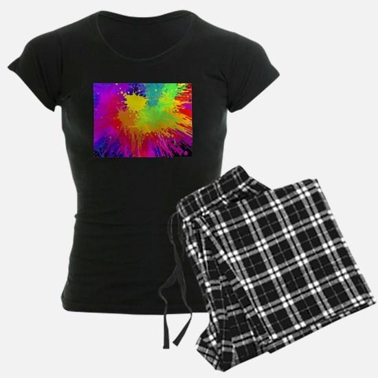 Colorful paint splats backgr Pajamas