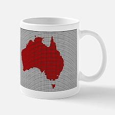Drilled Plate Australia Map Mugs