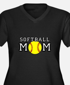 Softball Mom Plus Size T-Shirt