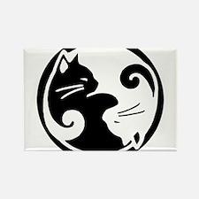 Ying Yang Cats Magnets