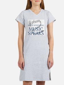 Cute Music Women's Nightshirt